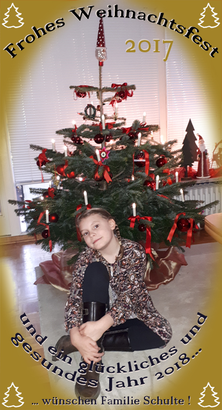 Weihnachtsgrüsse von Familie Schulte