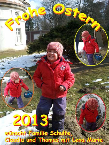 Ostergruß 2013 von Familie Schulte