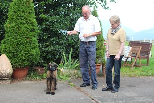 Yael mit ihren neuen Besitzern zieht nach Deutschland