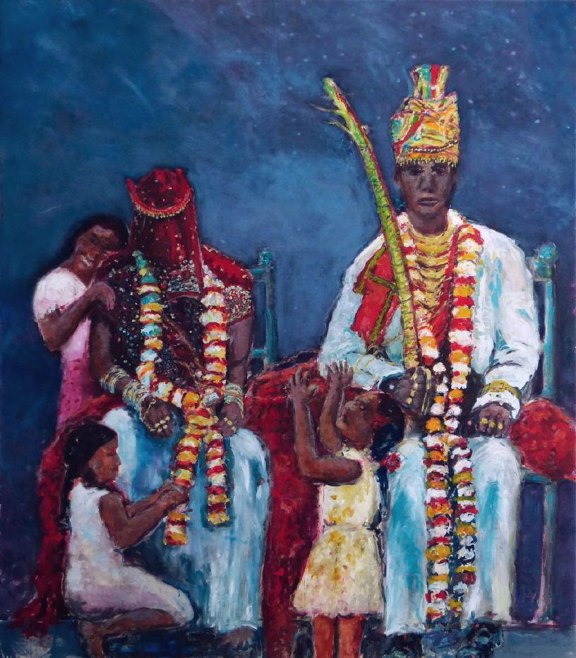 Die Glücklichen, Gujarat, 2015, 195 x 170 cm