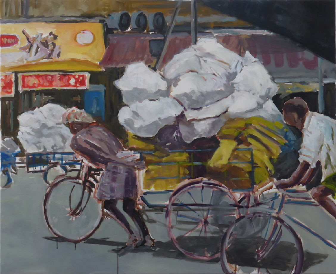 Lastenrikscha, Madurai, 2014, 90 x 110 cm