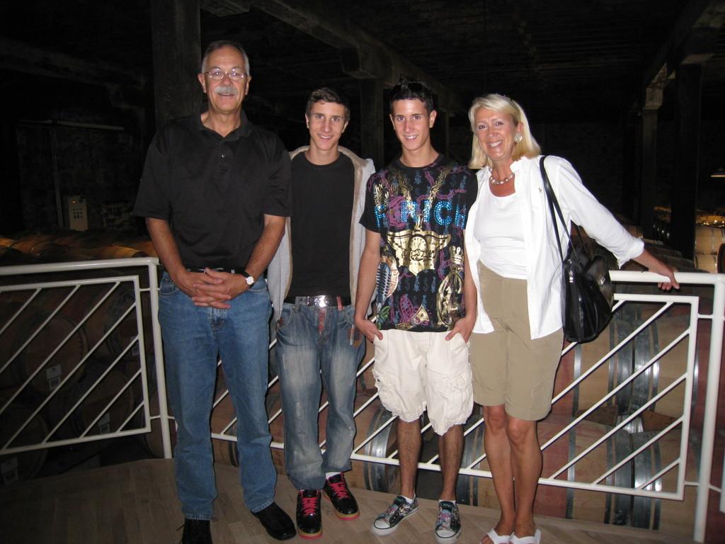 Familie Kohli zu Besuch bei Donald Hess in Kalifornien
