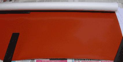 déroulement du papier autotype g 35 sur un plan fixe