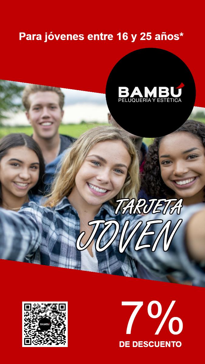 Tarjeta joven - Peluquerías Bambú