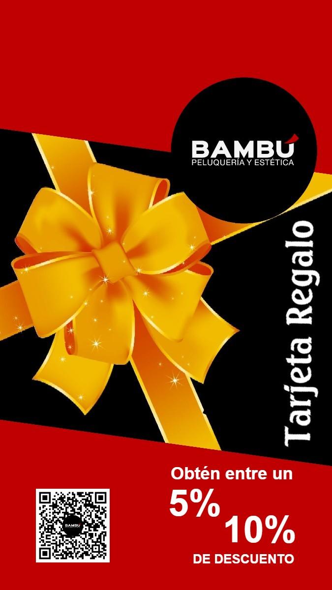 Tarjeta regalo - Peluquerías Bambú