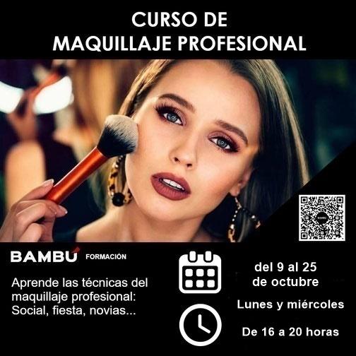 Cursos de maquillaje profesional en La Orotava - Formación Bambú