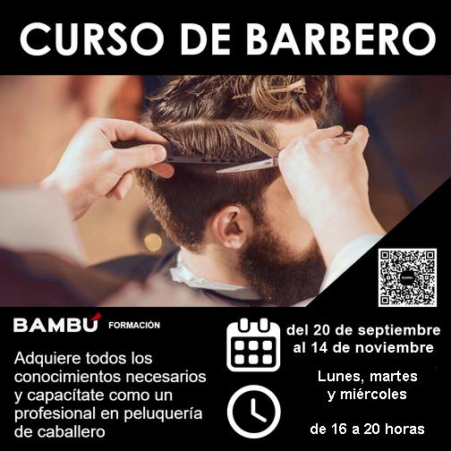 Curso de corte de caballero y barbería en La Orotava - Formación Bambú