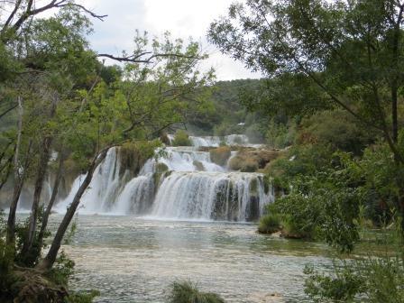 18.8. Die Wasserfälle von Krka.