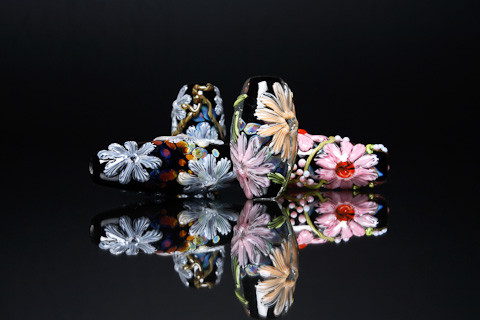 Floral Focal Beads