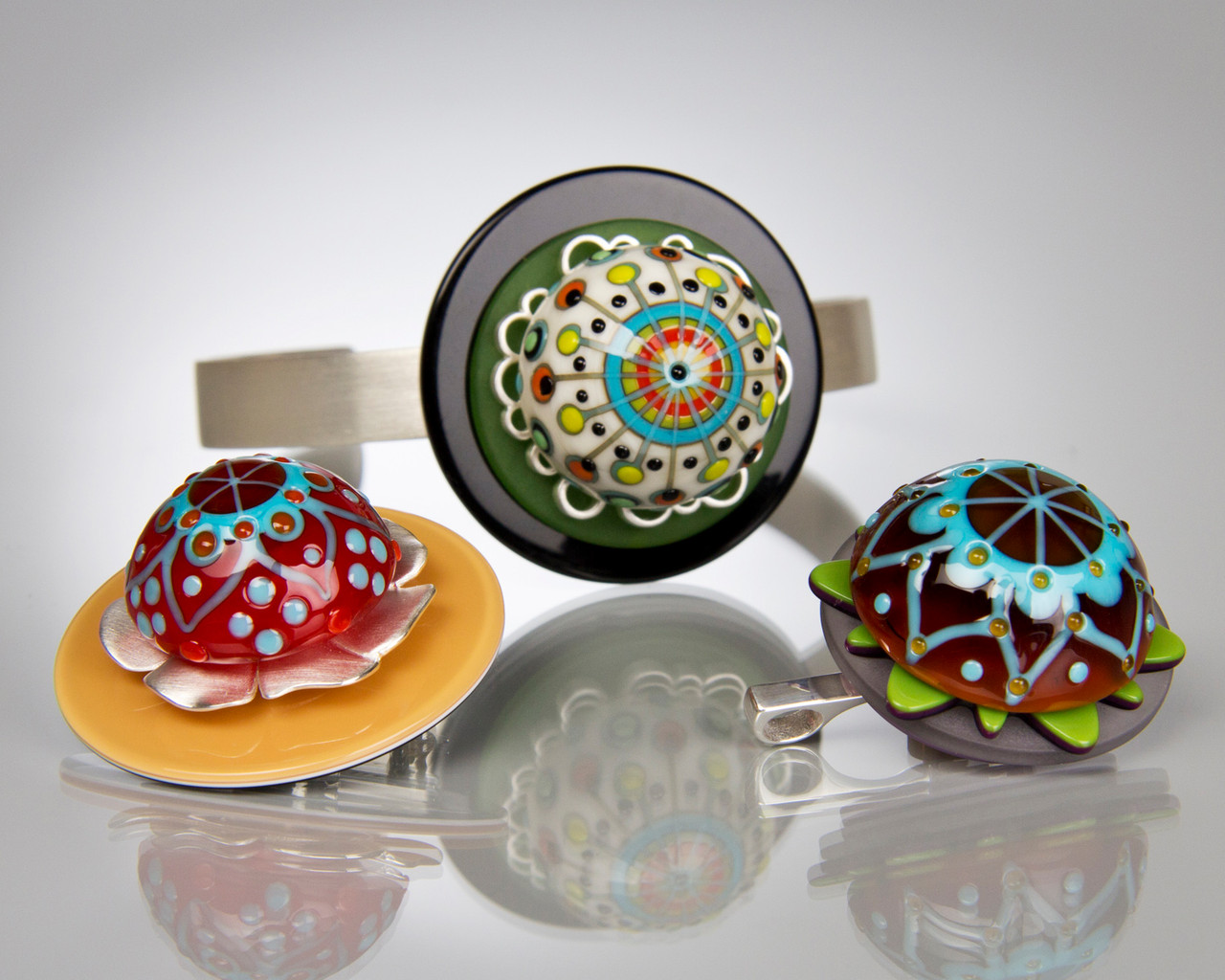 Glass Cabochon Toppers - interchangeable jewellery system