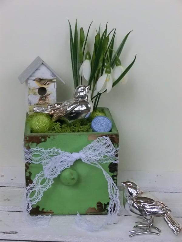 Tischdeko Gartenvögelchen