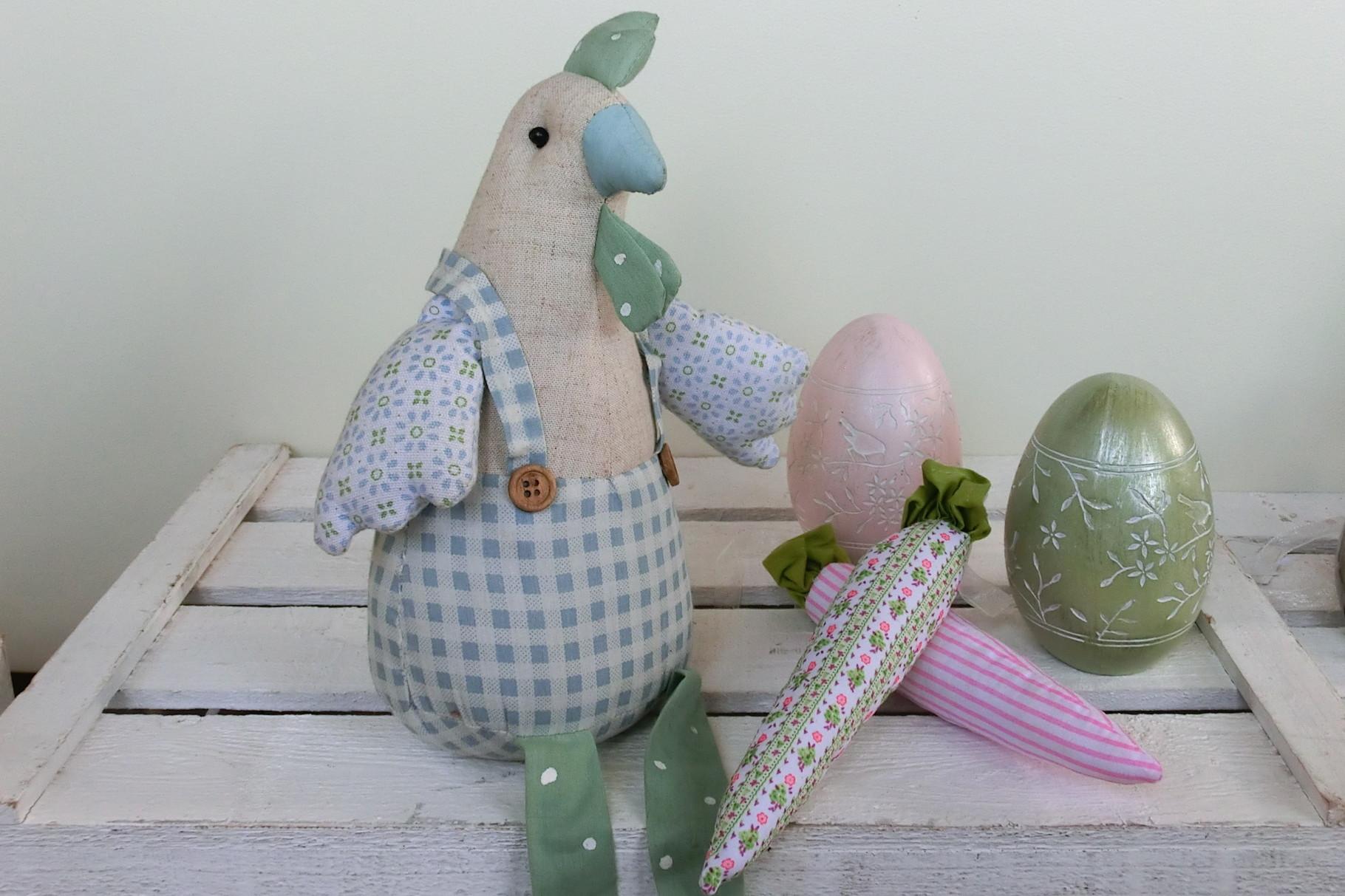 Romatische Ostern mit Eiern in Pastell mit Vogelmotiven