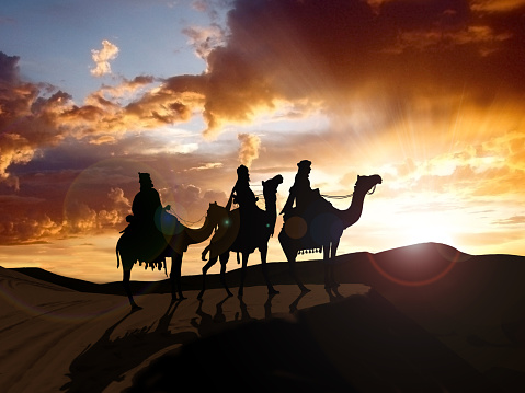 Los tres Reyes, die heiligen drei Könige