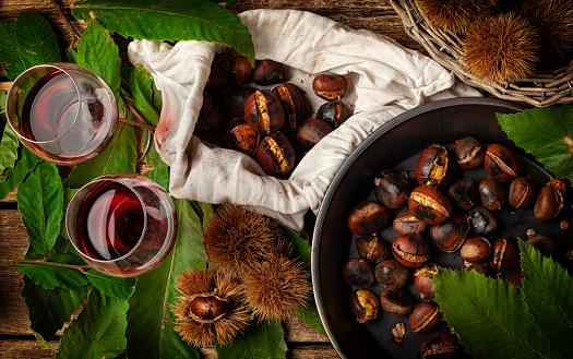 Kastanienessen und Rotwein, Tradition auf Teneriffa