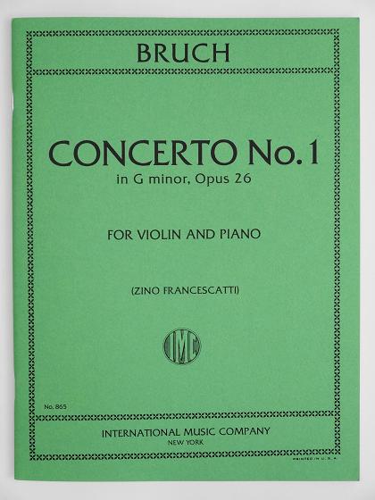 ブルッフ ヴァイオリン協奏曲 インターナショナル版 楽譜 フランチェスカッティ ヴァイオリン教室 バイオリン レッスン