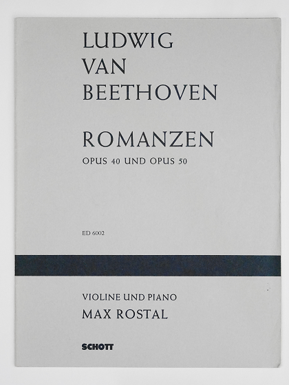 ベートーヴェン ロマンス マックス ロスタル 楽譜 ヴァイオリン教室 バイオリン レッスン