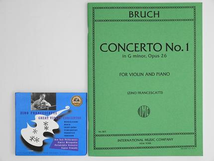 ブルッフ ヴァイオリン協奏曲 インターナショナル版 楽譜 フランチェスカッティ CD ヴァイオリン教室 バイオリン レッスン
