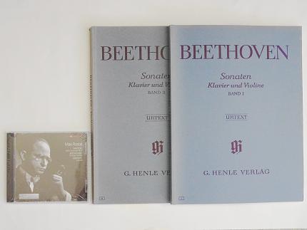 ベートーヴェン ヴァイオリン ソナタ マックス ロスタル 楽譜 CD ヴァイオリン教室 バイオリン レッスン