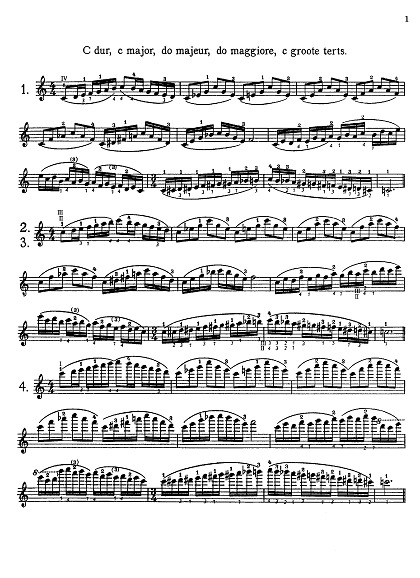カール・フレッシュ スケール・システム CARL FLESCH SCALE SYSTEM C dur ヴァイオリン教室 バイオリン レッスン
