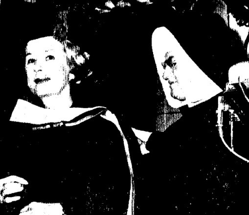 "1964, May 29 - ""Irene Dunne Tells Graduates - 'Sell What you Have And Give to the Poor'"""