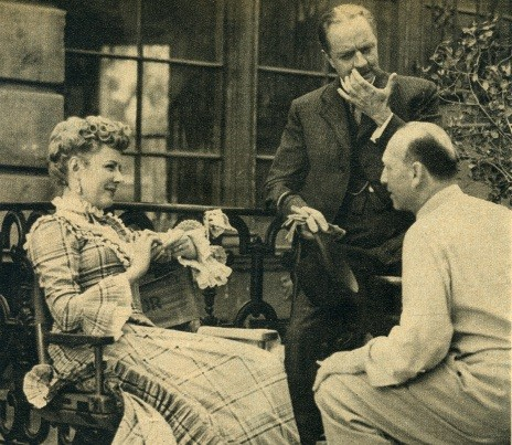"Director Curtiz, Irene and Bill Powell of ""Life With Father,"" another of her hits."