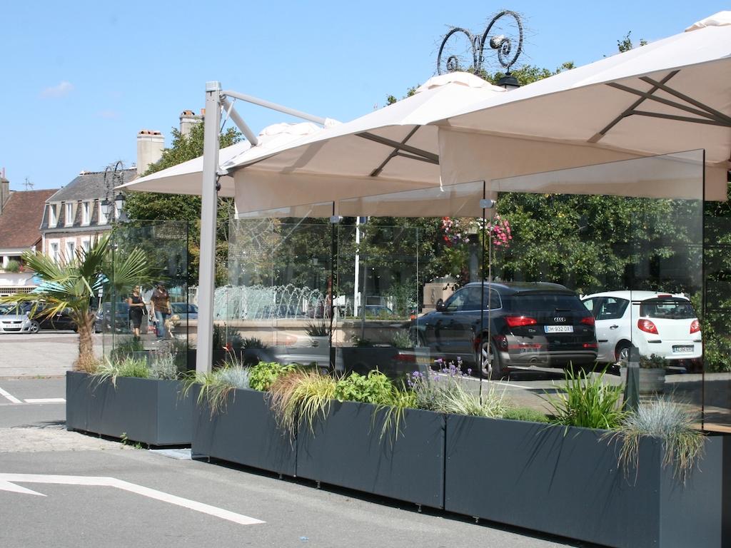Windschutzanlage Gastronomie Terrasse