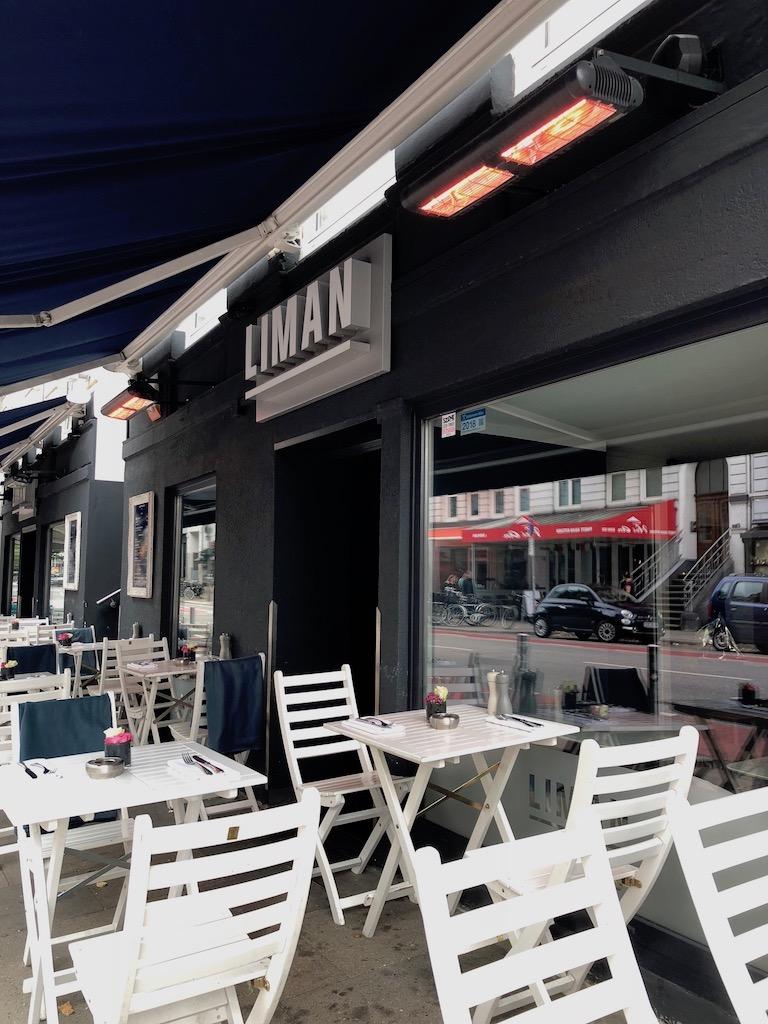 Gastronomie Terrasse mit Heizstrahler