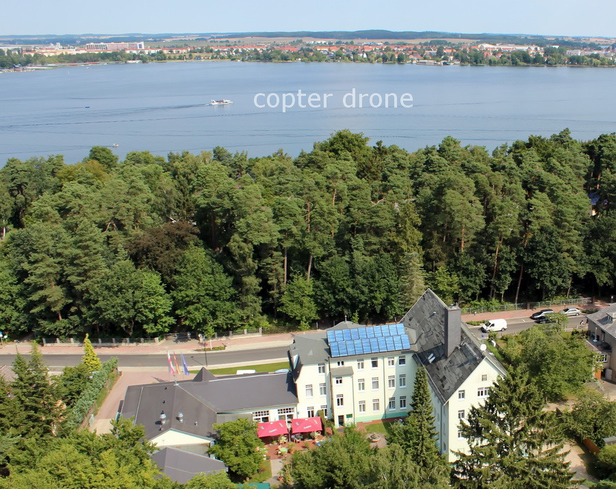 Luftbilder Waren Hotel Ecktannen mit Müritz Mecklenburg-Vorpommern