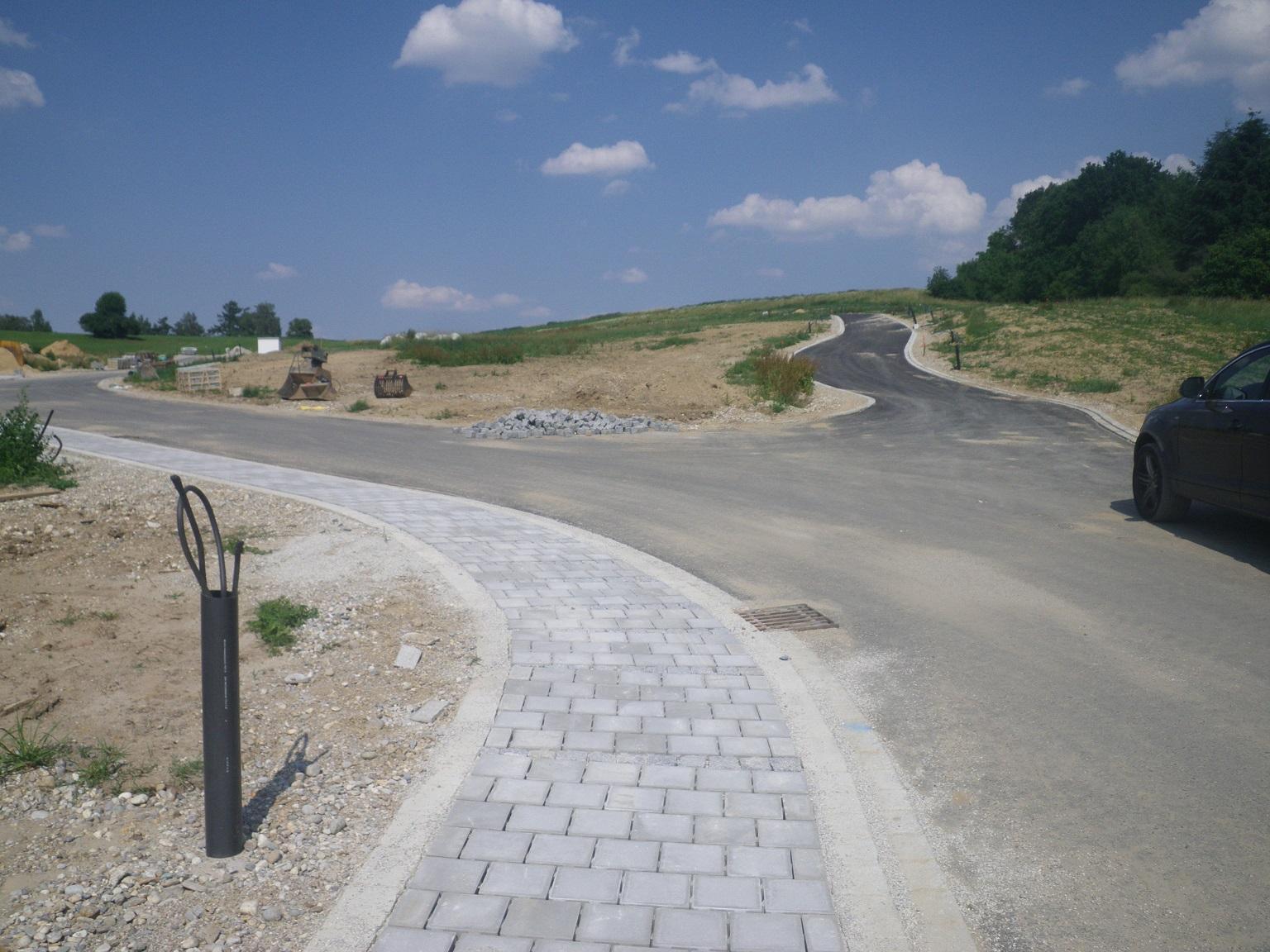 Straßen in Baugebiet