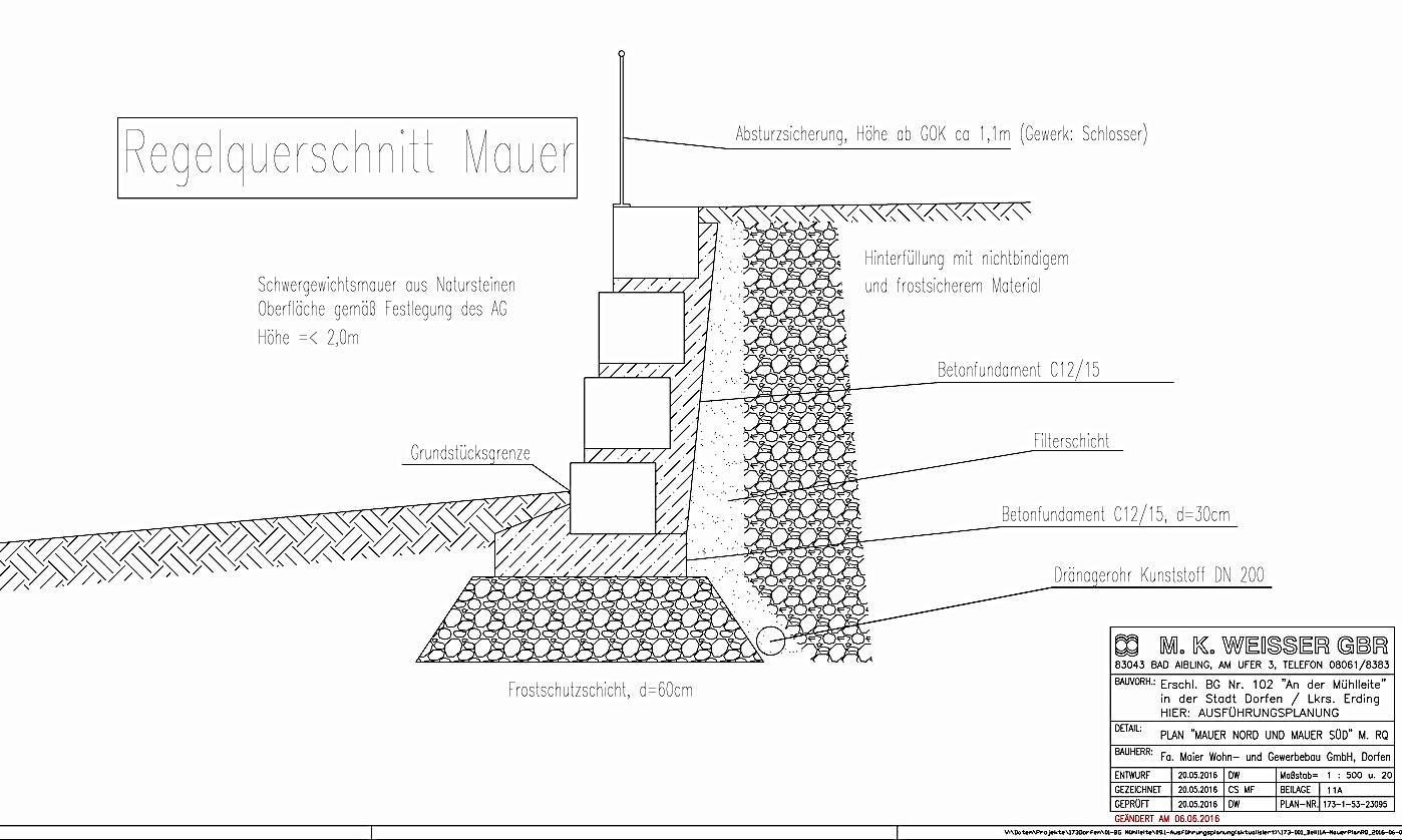Die Mauerplanung