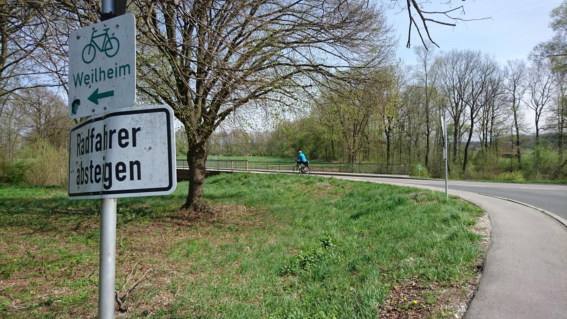 Bestehender Geh- und Radweg
