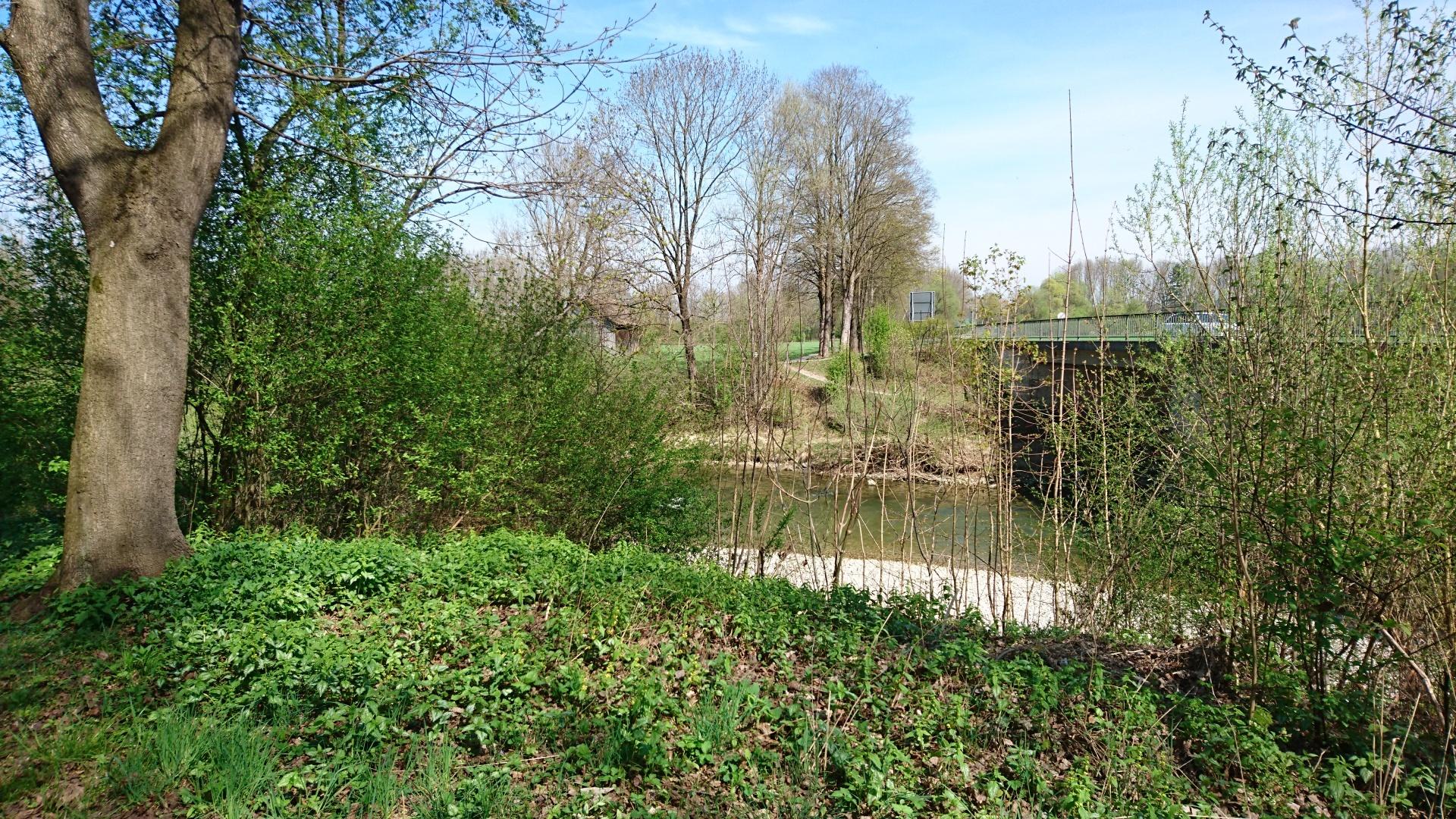Bestehende Position der neuen Geh- und Radwegbrücke