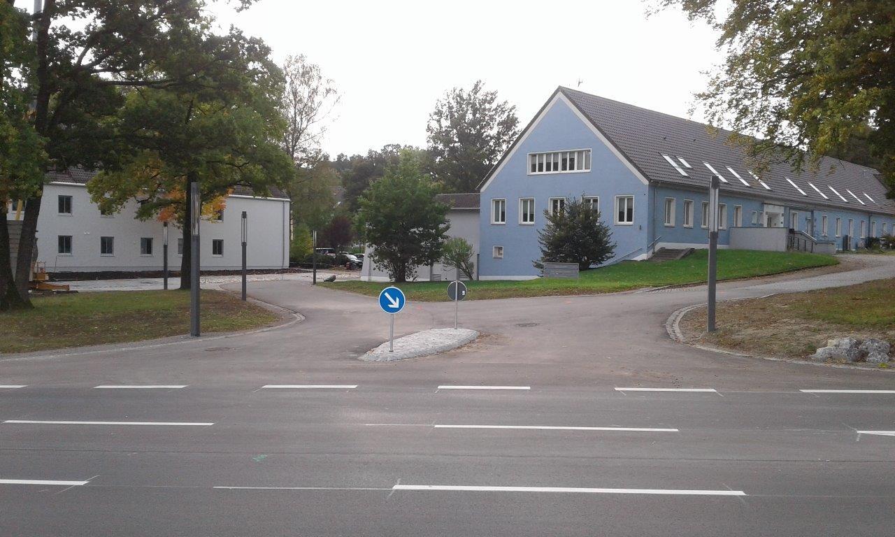 Voila: Die neue Zufahrt Nord auf das B&O Parkgelände.