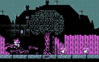 Como os habréis dado cuenta, en la versión para la tarjeta gráfica CGA (4 colores) el juego pierde todo su atractivo