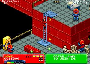 La recreativa, como puedes observar es casi un calco de la versión Amiga.