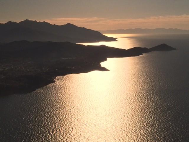 Tramonto sull'Isola d'Elba e Corsica