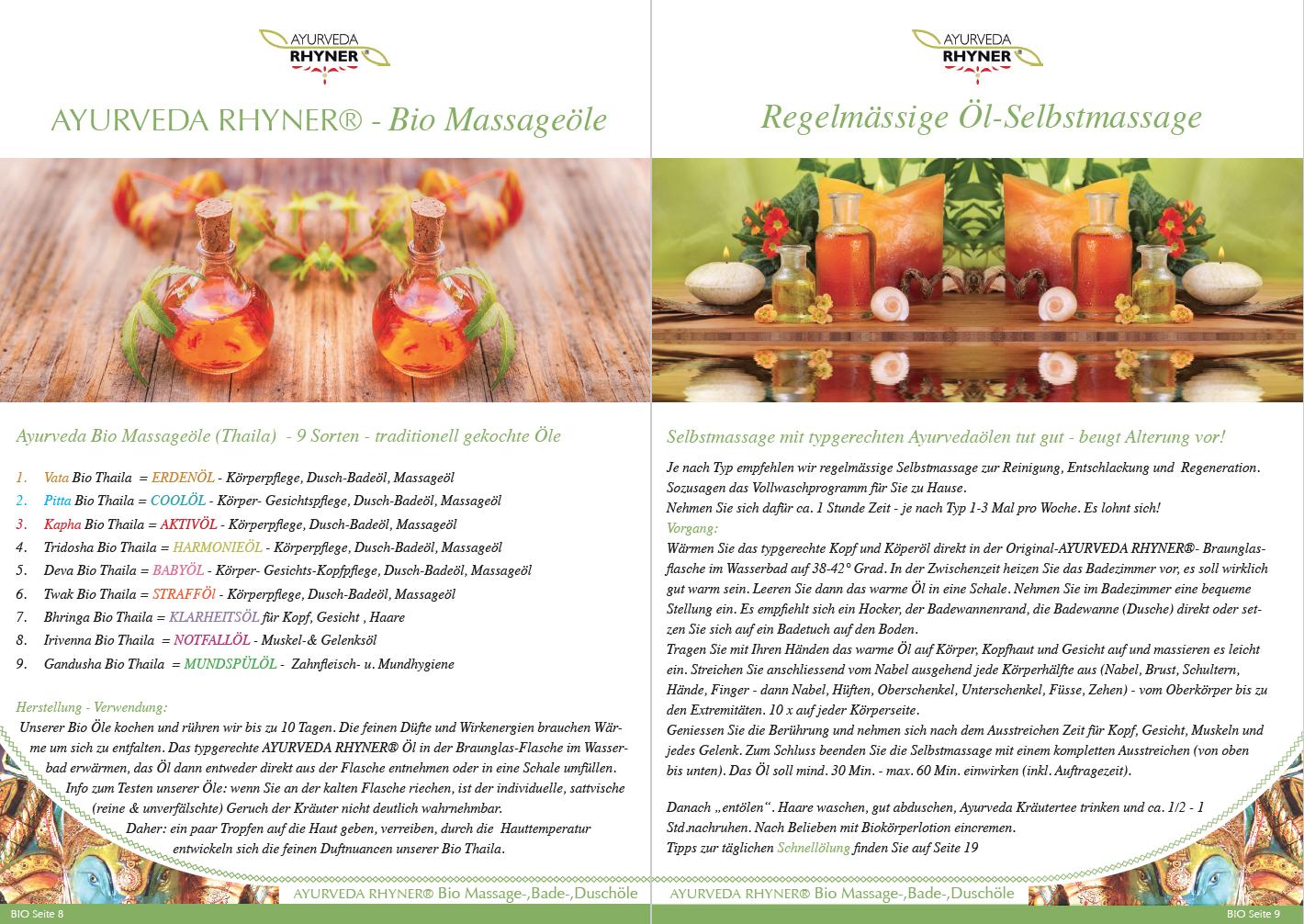 Seite 6-7 - Bio Massageöle - Übersicht und Selbstmassage