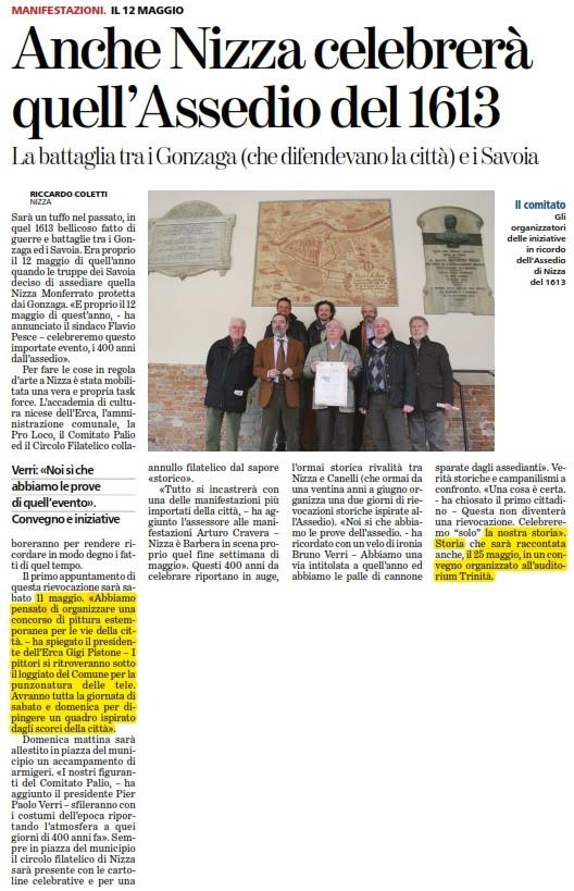 Articolo La Stampa 24-03-2013