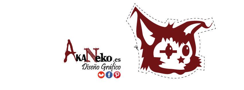 akaneko, diseño gráfico, ilustración, el gato rojo,