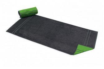 Handtuch aus Bambus Viskose, doubleface, grau-limette, 75 x 140 cm