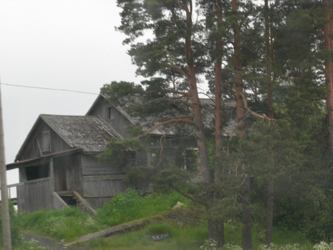 viele kleine Holzhäuser