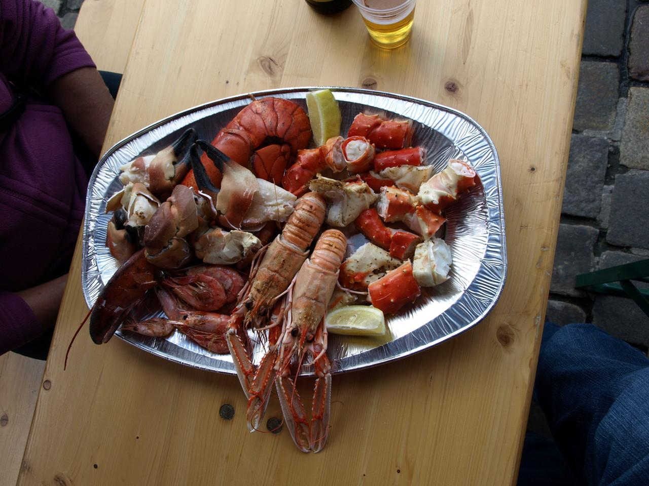 leckerer Meeresfrüchte-Teller