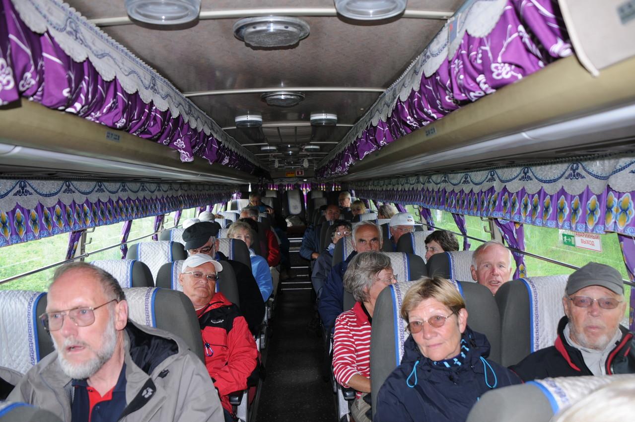 wir fahren in einem koreanischen Bus