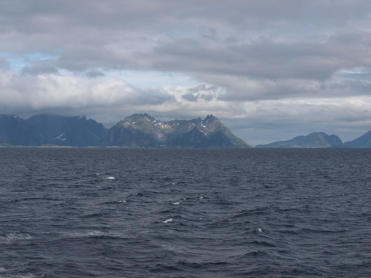 Blick zurück auf die Lofoten