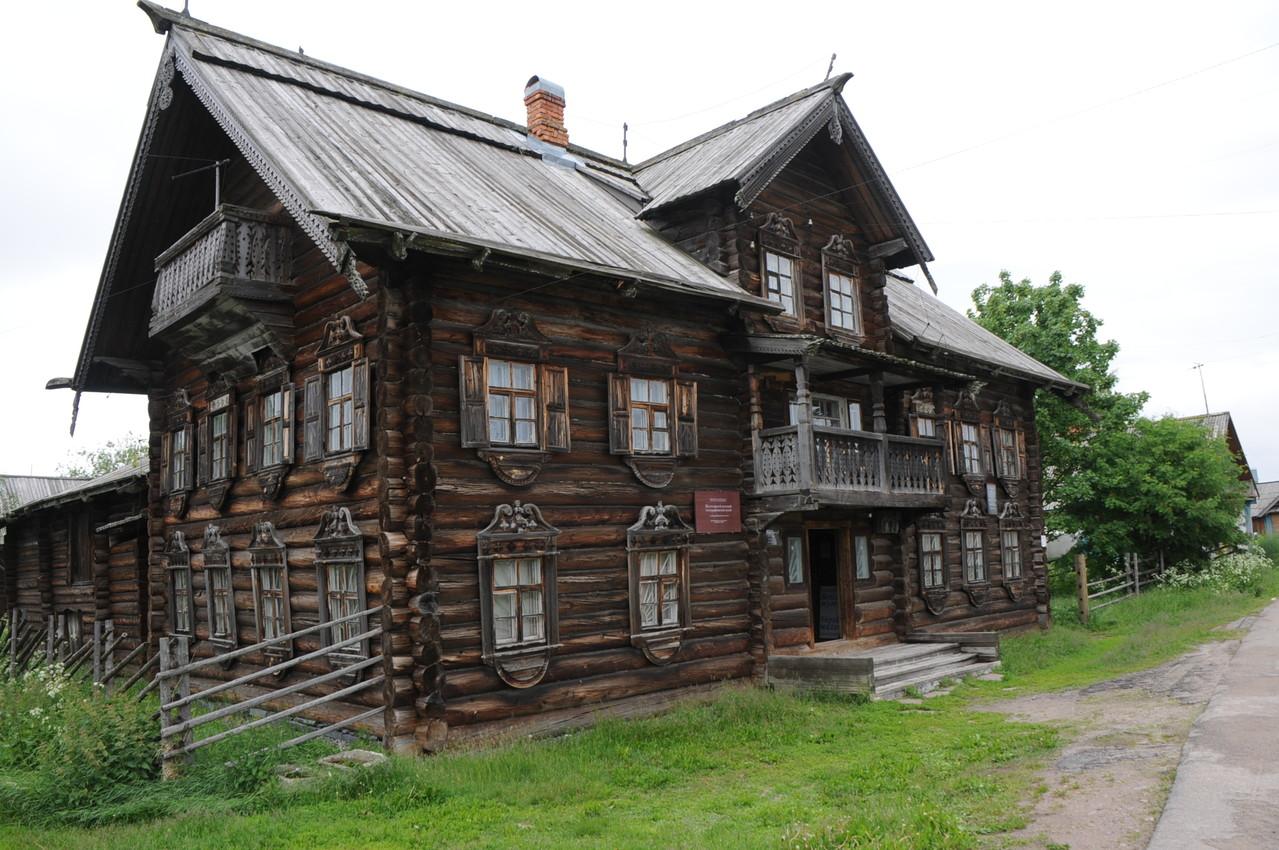 alten Holzhäusern