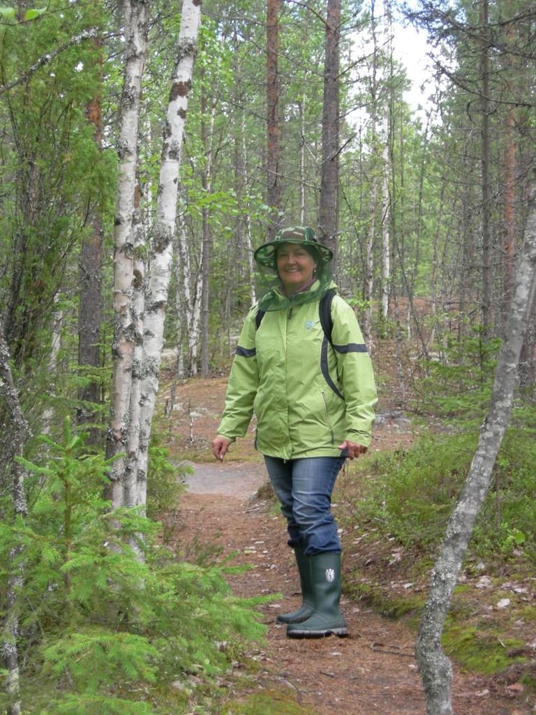 Auf der Wanderung sind Stiefel und Mückenschutz angesagt