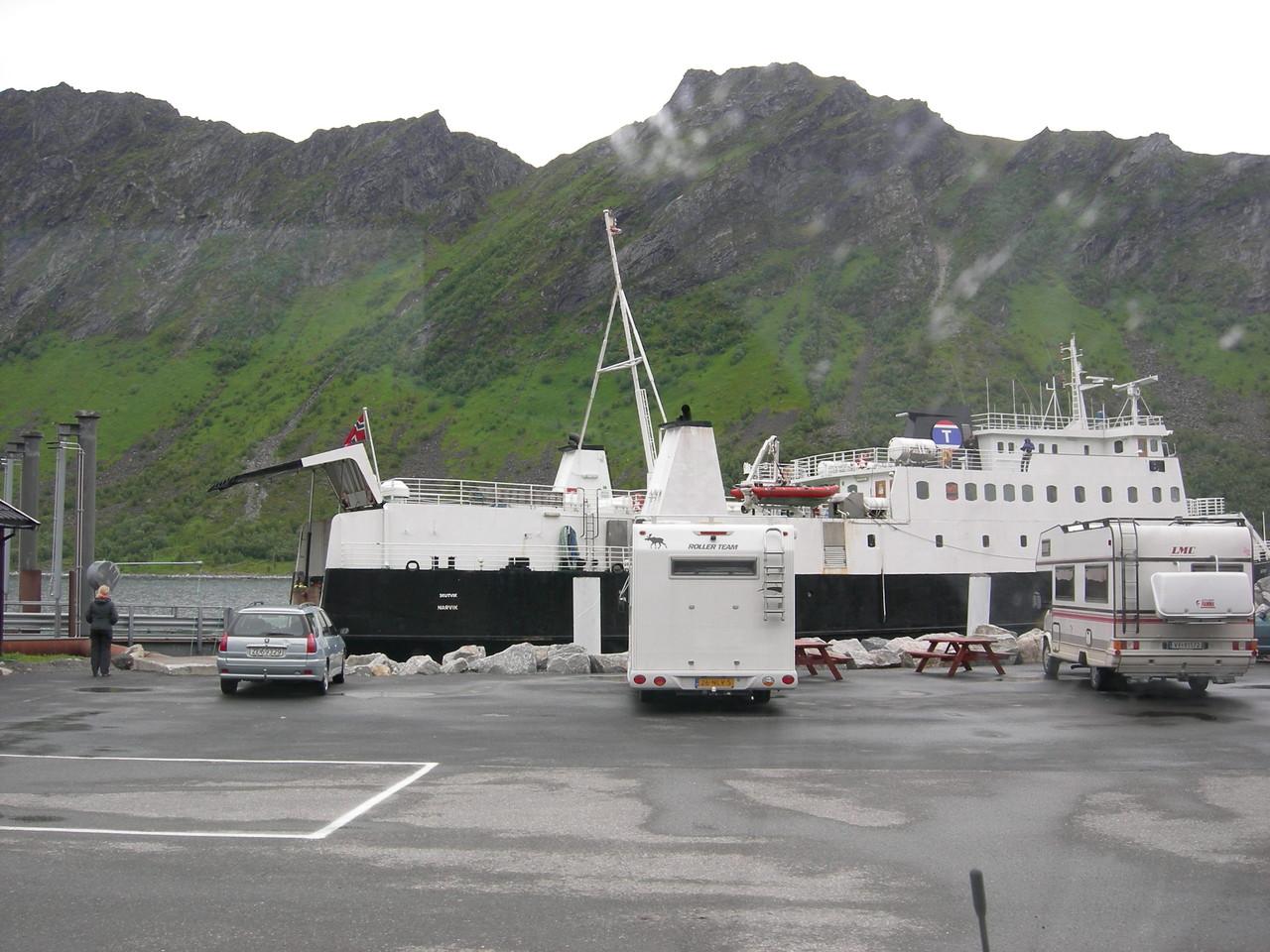 die 1. von vielen Fähren die wir in Norwegen benutzten