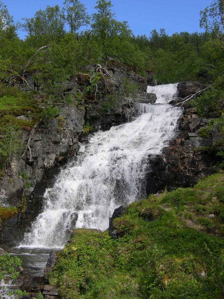 kleiner Wasserfalle