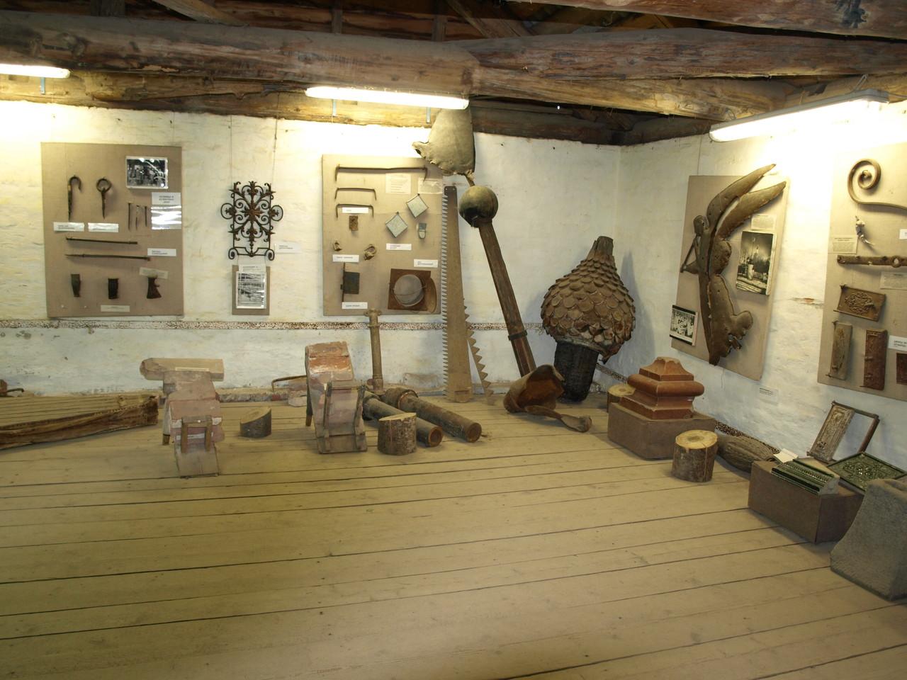 im Museum werden die alten Handwerke gezeigt