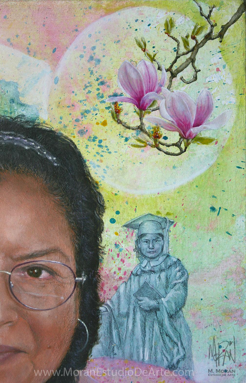 Retrato al oleo de abuelita